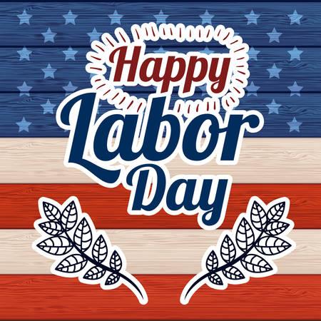 Retro Labor day digital design, vector illustration eps 10