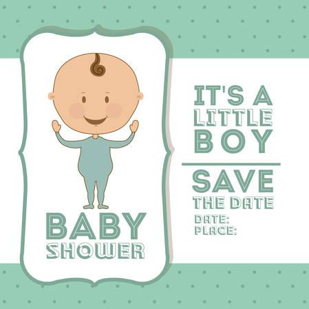 sweet background: Baby Shower digital design, vector illustration eps 10