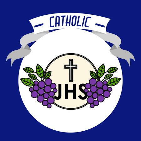 catholic: Catholic digital design, vector illustration eps 10