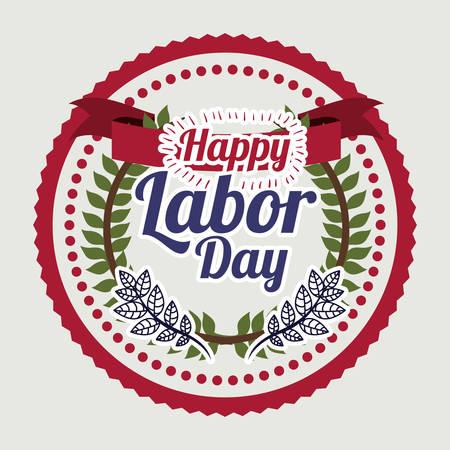 labor: Labor day digital design, vector illustration eps 10