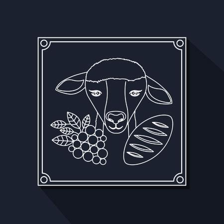 Catholic digital design, vector illustration