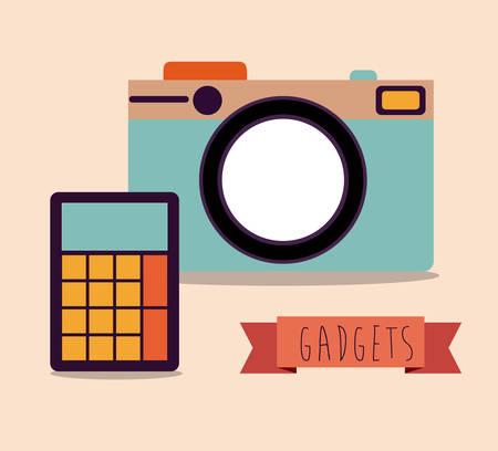 digicam: Camera digital design, vector illustration eps 10 Illustration