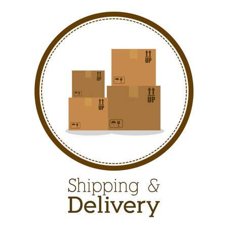inventory: Delivery digital design, vector illustration eps 10