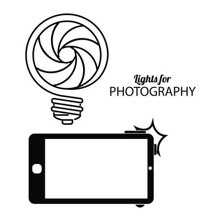 Photography digital design, vector illustration eps 10 Illustration