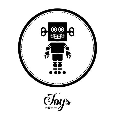 graphic icon: Toys digital design, vector illustration eps 10