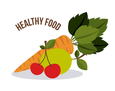 Healthy food digital design