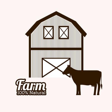 horse stable: Farm Food digital design