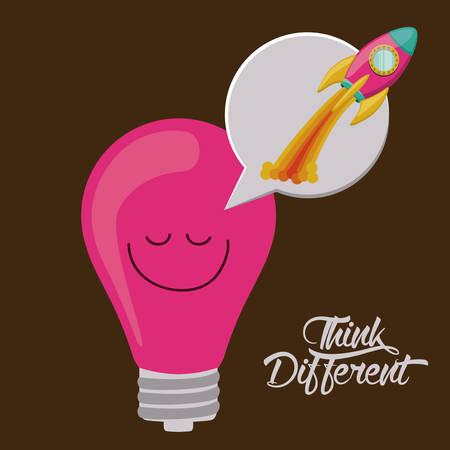 Think different  digital design Illustration