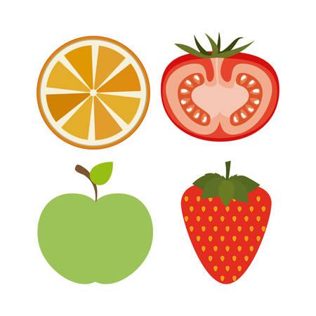 Healthy Lifestyle digital design Illustration
