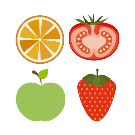 Healthy Lifestyle digital design Ilustrace