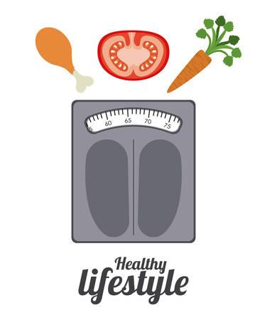 healthy lifestyle: Healthy Lifestyle digital design Illustration