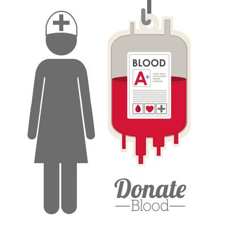 blood donation: Blood donation digital design Illustration