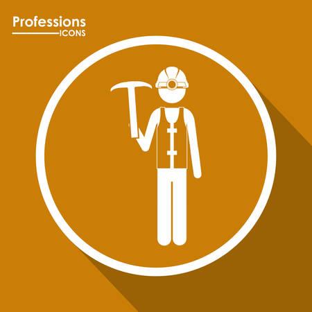 профессий: Профессии Digital Design Иллюстрация
