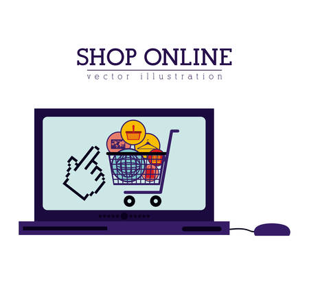 digital: Shopping Online digital design Illustration