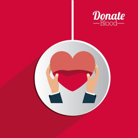 blood donation: Blood donation digital design, vector illustration