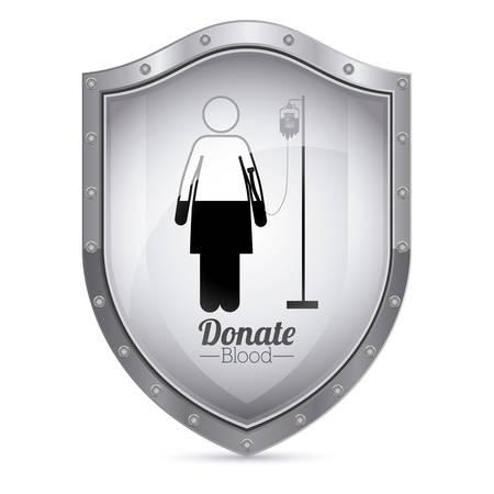 charitable: Blood donation digital design Illustration