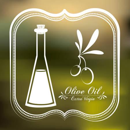 vitamines: Olive Oil digital design  Illustration