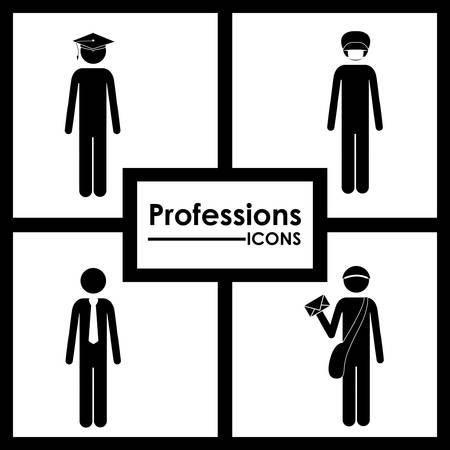 profesiones: Profesiones dise�o digital Vectores