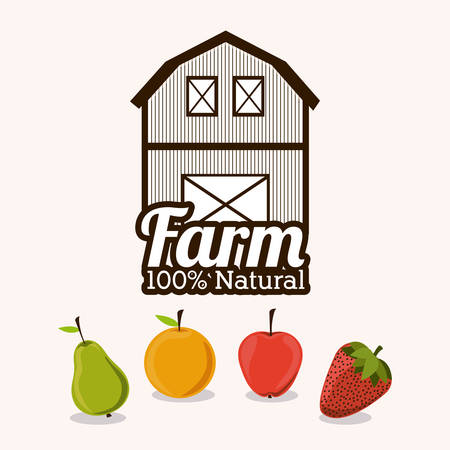 horse stable: Farm Food digital design, vector illustration eps 10