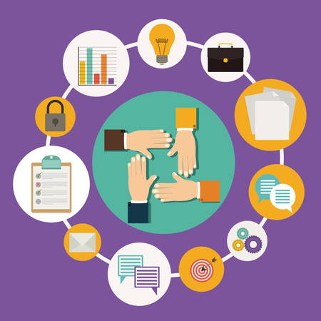 problem solution: Business digital design, vector illustration Illustration