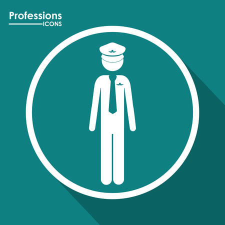 professions: Professions digital design, vector illustration