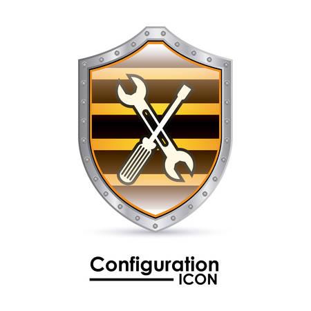 configuration: Configuration digital design, vector illustration