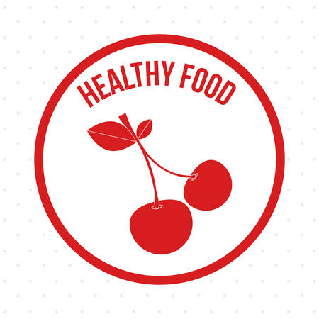 alimentacion sana: Healthy food digital design