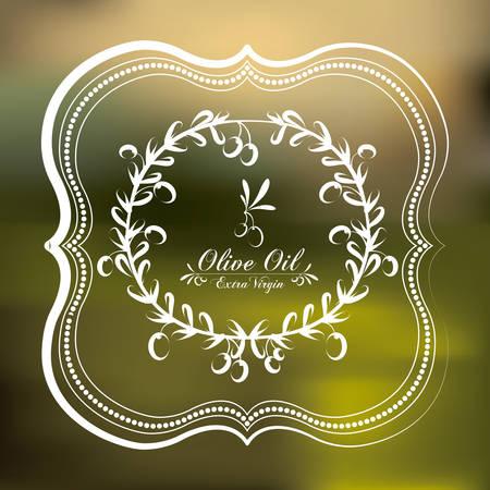 Olive Oil digital design, vector illustration