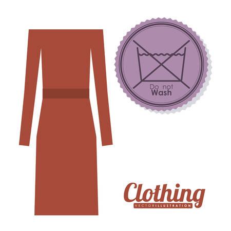 Clothing  digital design, vector illustration