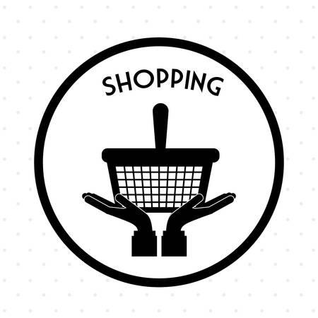 digital: Shopping digital design, vector illustration   Illustration