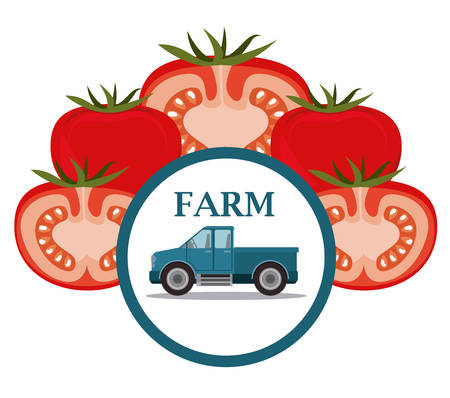 Farm Food  digital design, vector illustration