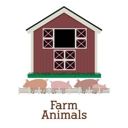horse stable: Farm Food digital design, vector illustration  Illustration