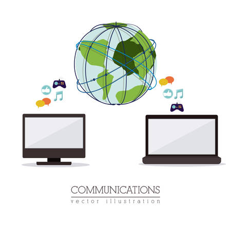 communications: Global Communications digital design, vector illustration   Illustration