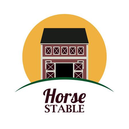 horse stable: Farm Food digital design, vector illustration