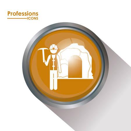 professions lib�rales: Professions conception num�rique, illustration vectorielle Illustration