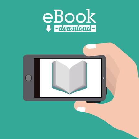 ebook: Ebook digital design, vector illustration eps 10 Illustration