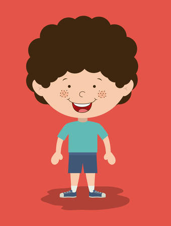 kids playing: Boy design, vector illustration eps 10 Illustration