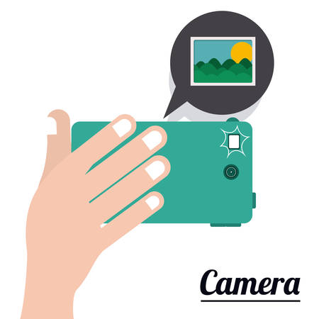 digicam: Camera digital design, vector illustration eps 10 Illustration