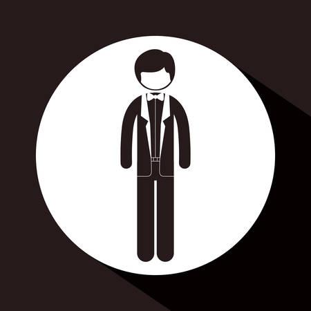 businesspeople: Businesspeople digital design, vector illustration eps 10