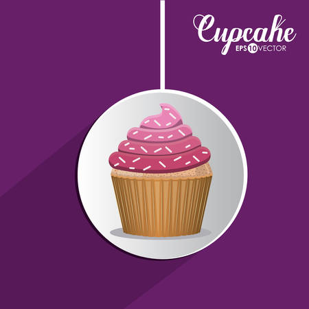 cupcake illustration: Cupcake digital design, vector illustration eps 10 Illustration