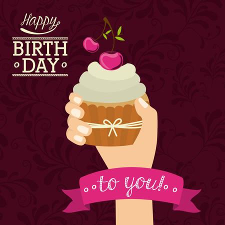 auguri di compleanno: Buon Compleanno digitale disegno, illustrazione vettoriale eps 10 Vettoriali