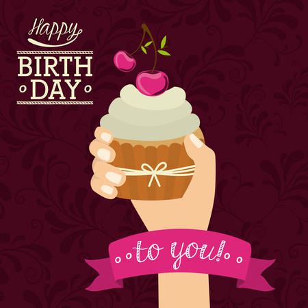 joyeux anniversaire: Conception numérique de joyeux anniversaire, illustration vectorielle eps 10 Illustration