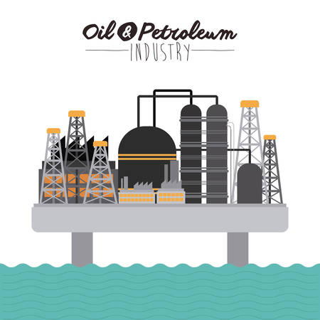 petroleum: Oil and Petroleum digital design, vector illustration   Illustration