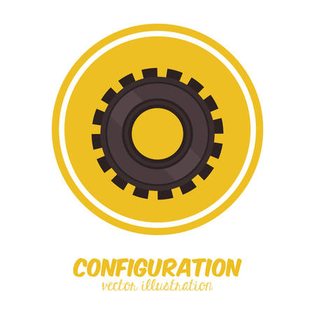 configuration: Configuration digital design, vector illustration