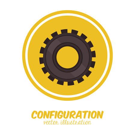 Configuration digital design, vector illustration