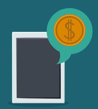 digital: Tablet digital design, vector illustration