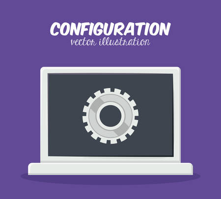 configuration: Configuration digital design, vector illustration   Illustration