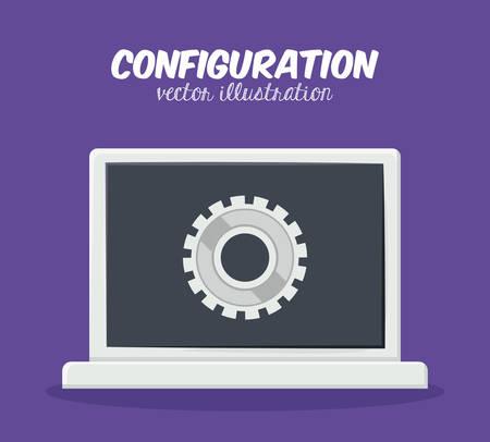 configuration: Configuration digital design, vector illustration   Illustration