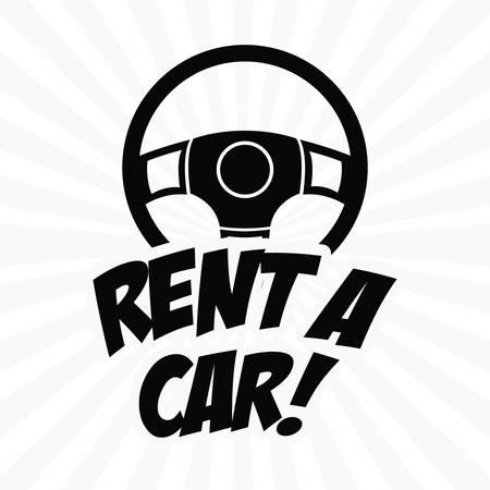 renting: Transportation  digital design, vector illustration  Illustration