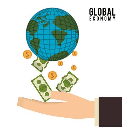 fund world: Global Economy digital design, vector illustration  Illustration